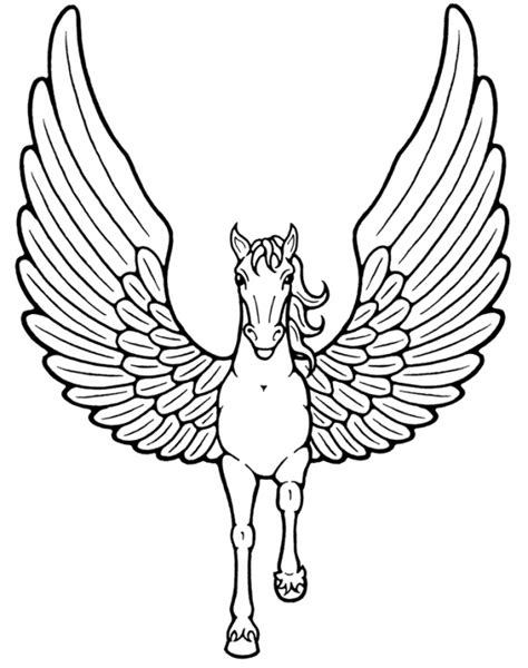 Coloring Pages Of Unicorns With Wings | 6 the unicorns with wings coloring sheet
