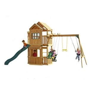 home depot outdoor swing sets swing n slide playsets mountain hollow wood complete play