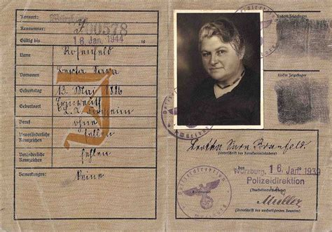 printable holocaust id cards the politics of prejudice how passports rubber st our