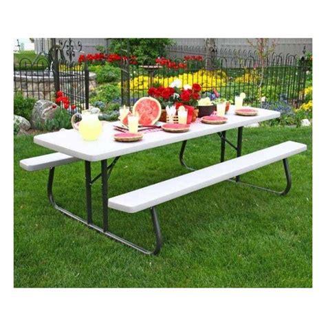 lifetime 8 foot picnic table lifetime 8 ft plastic folding picnic table putty 80123