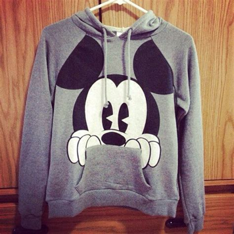 Sweater Micky Mouse Sweater Cowok Murah sweater mickey mouse grey hoodie wheretoget