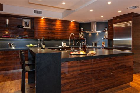 rosewood kitchen cabinets modern rosewood kitchn contemporary kitchen miami