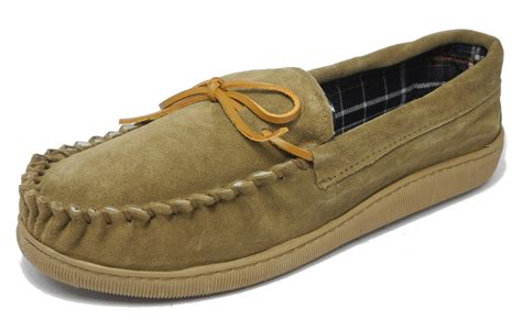mens wide moccasin slippers mens sleepers real suede wide fit leather moccasin