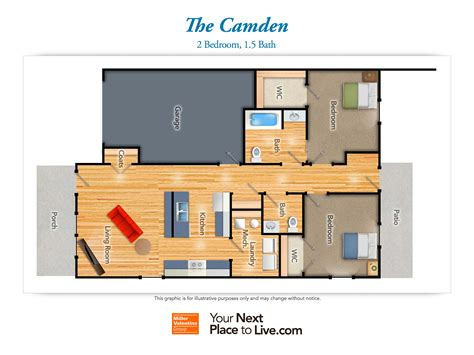 Camden Floor Plan by The Reserve At Lakeview Landing Senior Living Community
