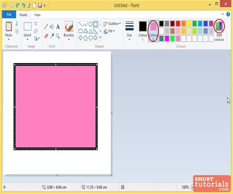 how to edit change colors in ms paint windows 8