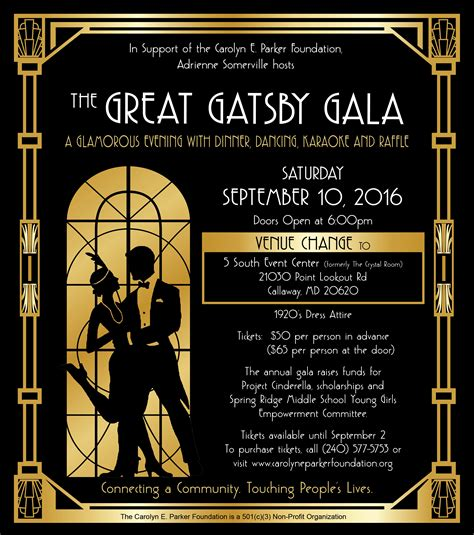 themes of identity in the great gatsby the great gatsby gala carolyn e parker foundation