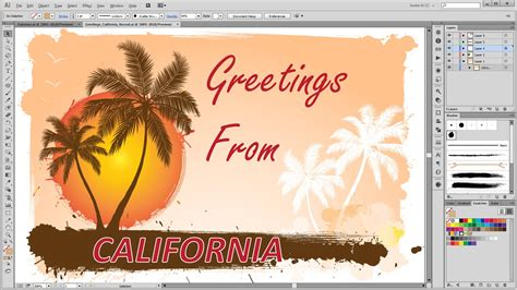 how to make ai you card how to create a summer greeting card in adobe illustrator