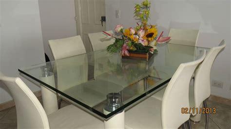 decoracion comedor mesa de vidrio juego de comedor mesa en vidrio de 6 puestos mesas
