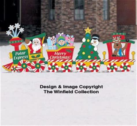 christmas train woodcraft pattern christmas yard
