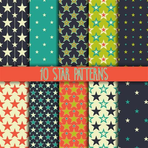 pattern collection download star patterns collection vector free download