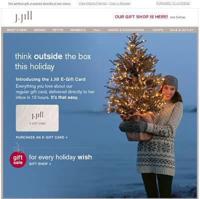 J Jill E Gift Card - am inbox elves unite against boring emails oracle marketing cloud