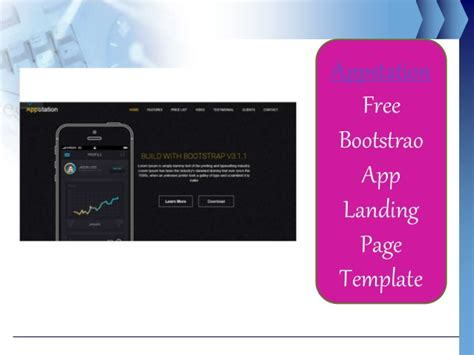 bootstrap landing page template free 15 free bootstrap landing page template in october 2015