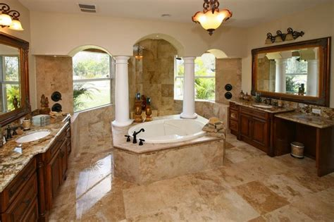 travertin badezimmer countertops country classic travertine tiles traditional bathroom
