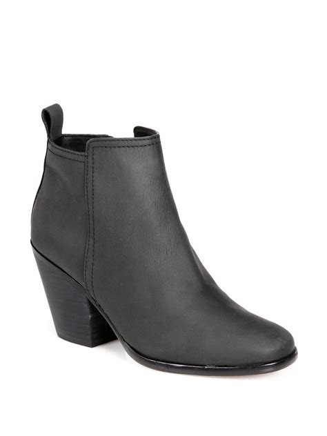 cole haan chesney leather ankle boots in black lyst