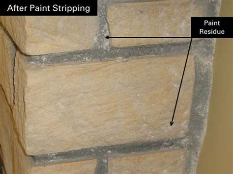 how to remove paint residue from cement or brick