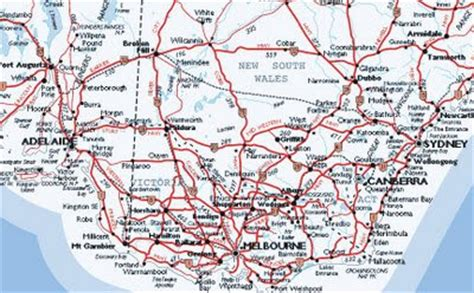 australia road map maps january 2009