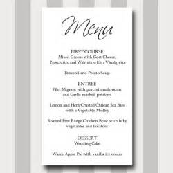 Basic Menu Template by Items Similar To Menu Card Diy Printable Template