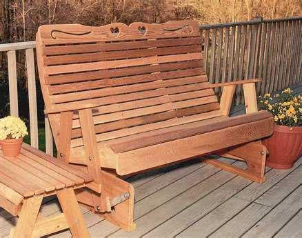 rocking bench plans creekvine designs cedar wood royal country hearts rocking glider bench ckpatiogliders398