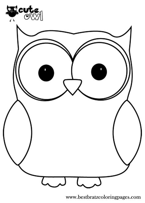 cute owl coloring pages bratz coloring pages clip art
