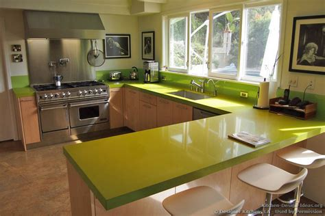 Green Countertops Designer Kitchens La Pictures Of Kitchen Remodels