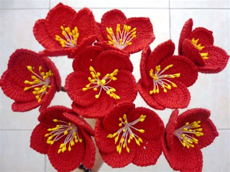 le led len hoa hồng gi 193 ng sinh hoa được đan m 243 c bằng len sợi nghệ