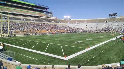 notre dame stadium visitor section notre dame stadium section 15 rateyourseats com