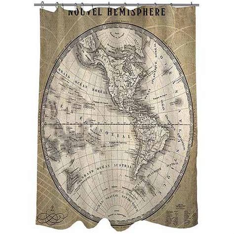world map shower curtain walmart thumbprintz french world map 3 shower curtain walmart com
