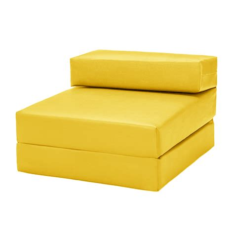 Yellow Futon by Yellow Faux Leather Single Chair Z Bed Guest Fold Up Futon