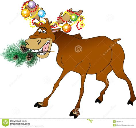 christmas animals animated animal stock illustration image of garland 28200910