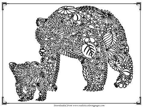 teddy bear coloring pages for adults bear coloring pages for adult printable realistic