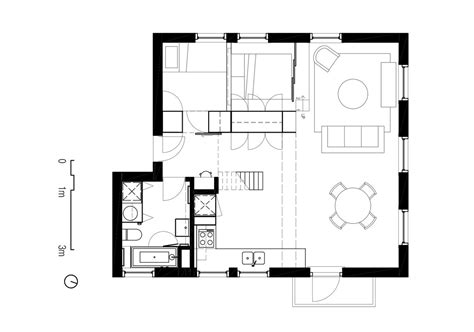 floor plan two apartments in modern minimalist japanese style