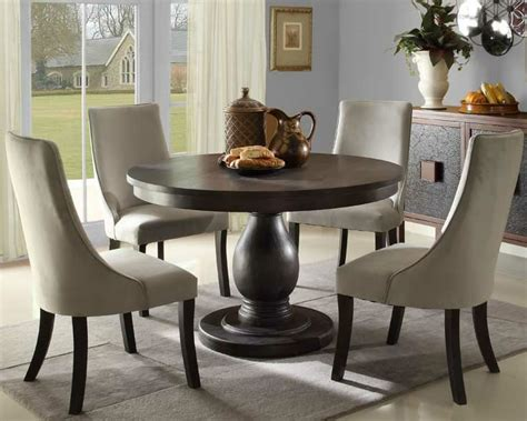 modern round dining room set casual dinette sets dining room designs astonishing round table dining set