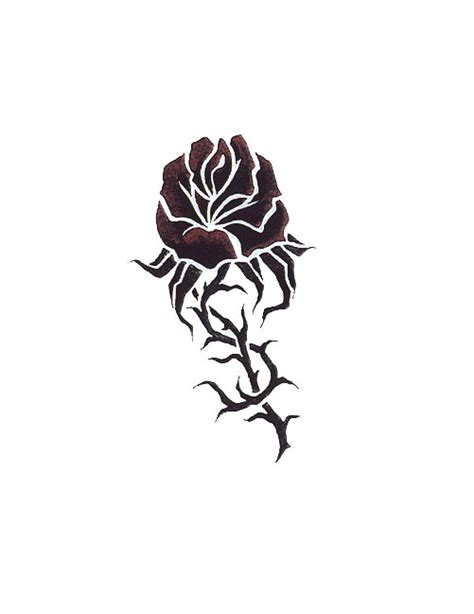 single rose tattoos designs single black free design ideas
