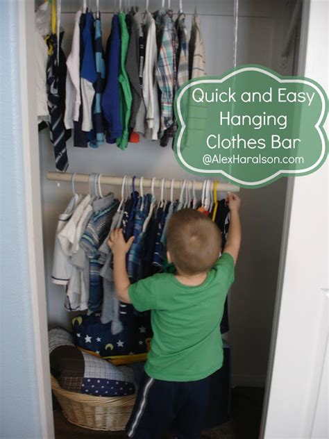 Closet Clothes Bar by Alex Haralson Hanging Clothes Bar For Kid S Closets