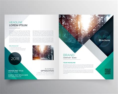 template brochure green business brochure template vector free
