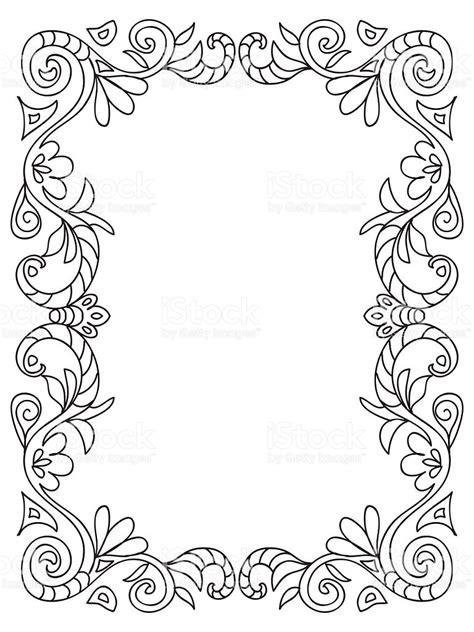 cornici da colorare cornice floreale decorativo da colorare immagini