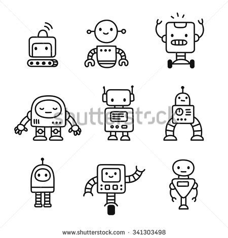 doodlebug drawing robot stock photos royalty free images vectors