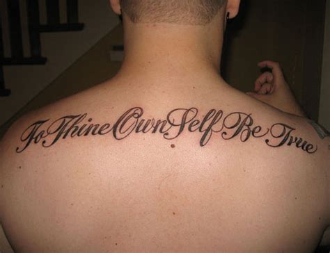 Back Quote Tattoos 30 Sensational Short Tattoo Quotes Creativefan