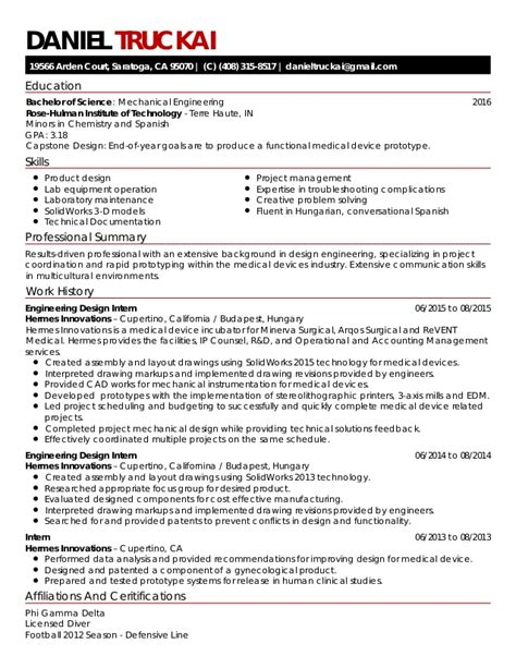 truckai daniel medical device resume