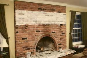 white washed brick fireplace tutorial home improvement