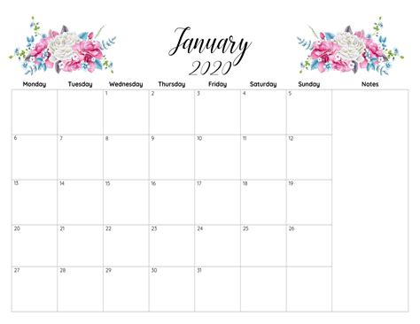 printable calendar january  excel template printable business educational sheets