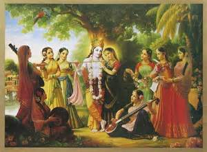 Photo Realistic Wall Murals radha krishna with gopis 19 5 x 13 5 inches unframed