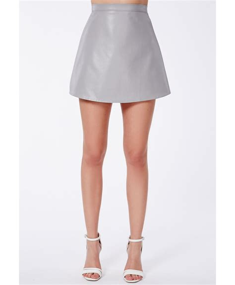 missguided shalon a line mini skirt in faux leather in