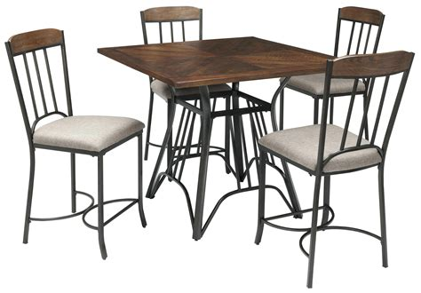 Square Bistro Table And Chairs Pub Table With 8 Chairs Chealsea 9 Pieces Counter Height Set Square Pub Table 8 Solid Wood 9