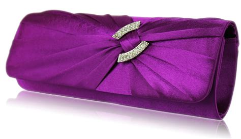 Clutch Purple wholesale purple satin clutch bag with decoration