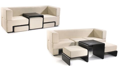 foot rest couch slot sofa hides a coffee table and matching foot rests
