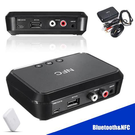 Usb Bluetooth Receiver Audio 3 5mm hifi nfc wireless bluetooth audio receiver 3 5mm rca