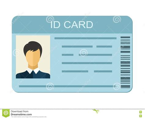 personal identification card template id card on white background business identification icon