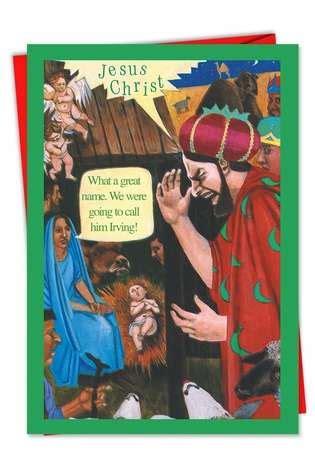 funny   irving christmas card