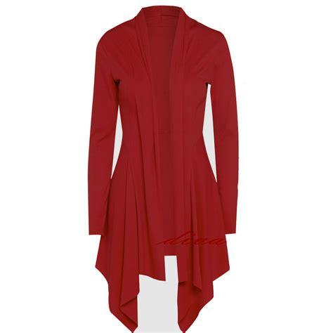womens cardigans size 12 ebay womens long sleeve waterfall cardigan ladies shrug uk size